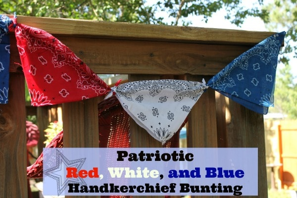 Patriotic Red, White, and Blue Handkerchief Bunting
