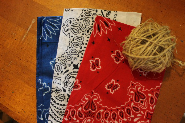 supplies for Patriotic Red, White, and Blue Handkerchief Bunting