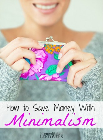 How to save money with minimalism for Minimalist living money