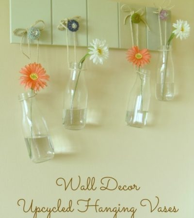 Wall Decor - Upcycled Hanging Vases - Premeditated Leftovers