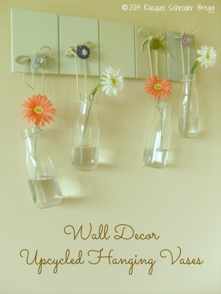 Frugal Wall Decor - Upcycled Hanging Vases