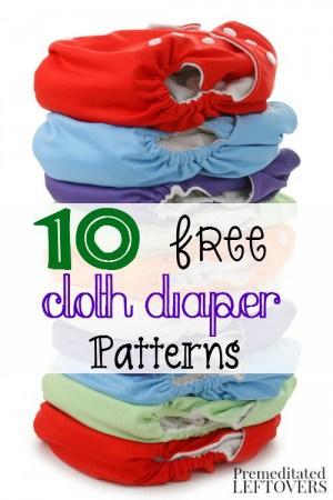 10 Free Cloth Diaper Patterns