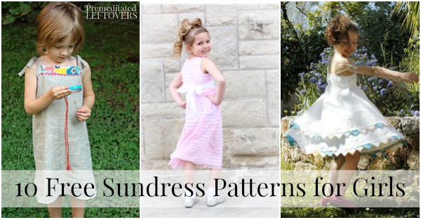 10 Free Sundress Patterns for Girls - Sewing Patterns and Tutorials
