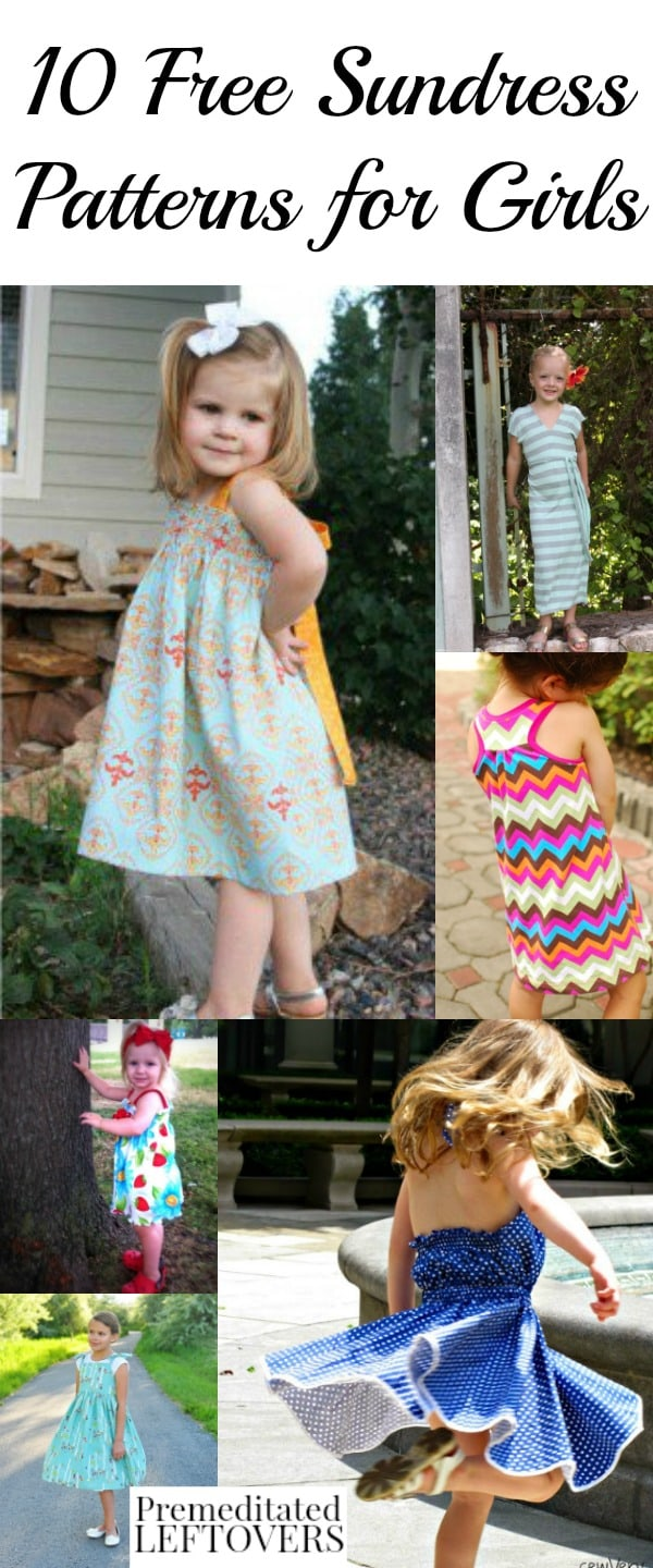 82d52a6e974 Save money on summer clothing for girls by making these free sundress  patterns for girls.