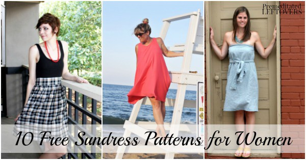 10 Free Sundress Patterns for Women - Sewing Patterns & Tutorials