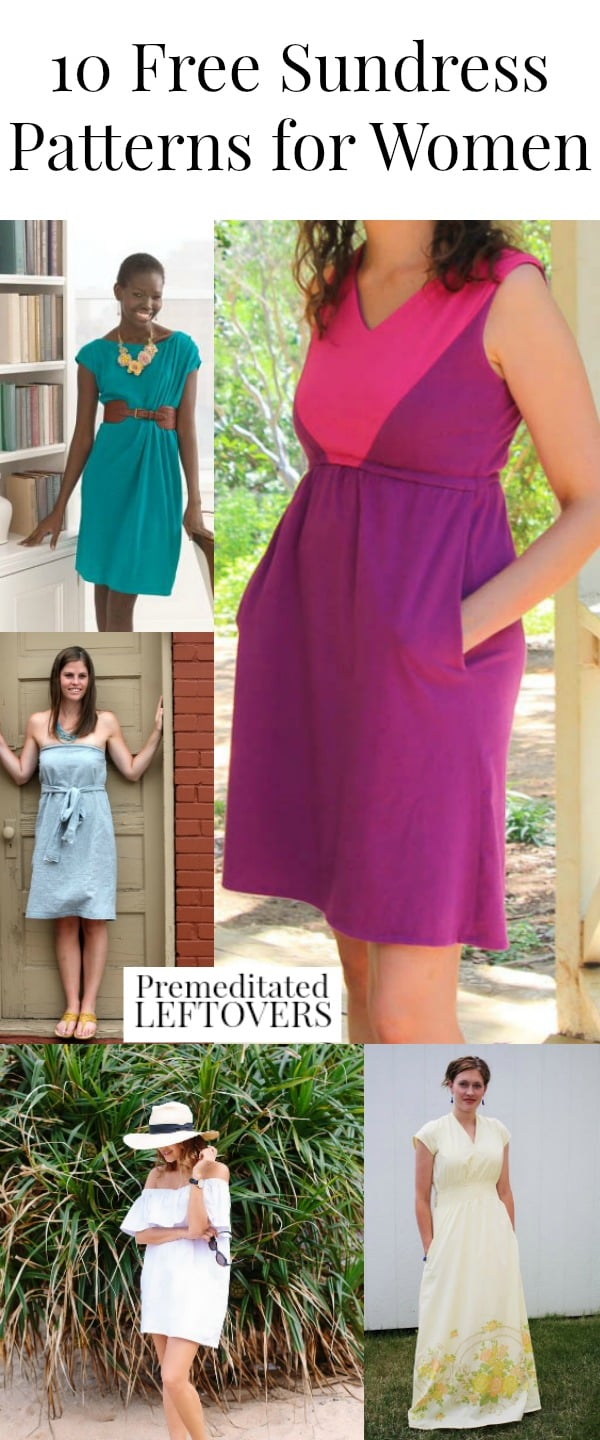 Sew one of these 10 Free Sundress Patterns for Women - Save money on your summer wardrobe by making dresses with these free sundress sewing patterns.