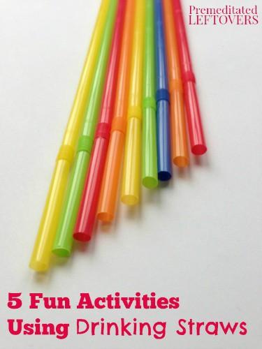 5 Fun Activities Using Drinking Straws