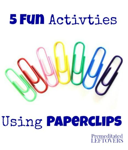 5 fun activities using paper clips for kids. Black Bedroom Furniture Sets. Home Design Ideas