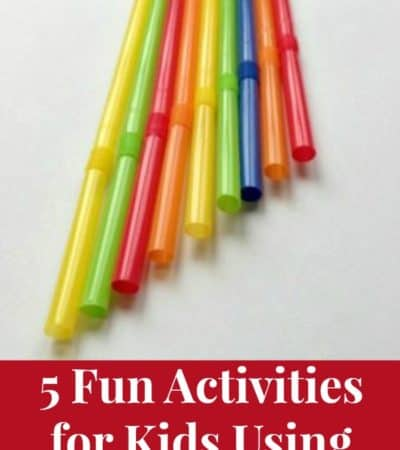 5 Fun Activities for Kids Using Drinking Straws