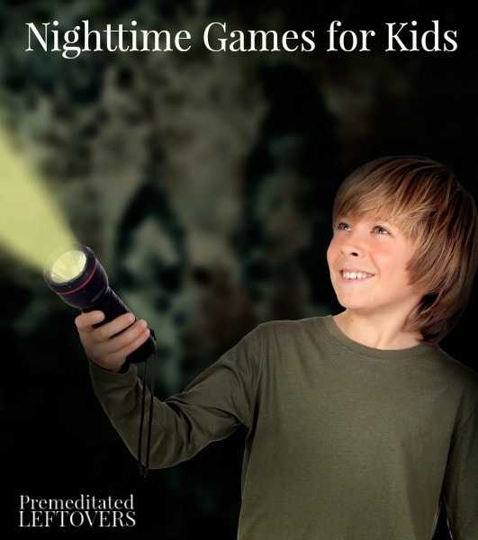 Flashlight tag and other fun night games for kids to play outside after dark