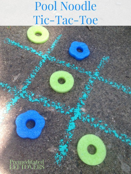 Pool Noodle Tic-Tac-Toe - a frugal craft for kids using pool noodles