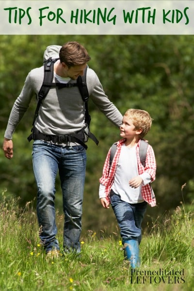 Use these Tips for Hiking with Kids to introduce your children to the joys of hiking. Taking a hike with your kids can be a fun and frugal family activity.