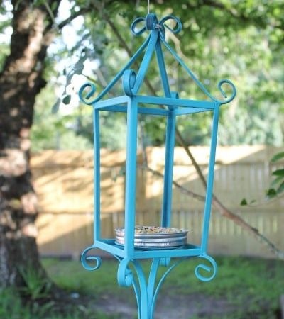 How to Make a Bird Feeder out of an Upcycled Candle Holder - Repurpose a discarded candle holder into a pretty and functional bird feeder.