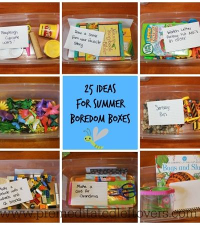 25 Ideas for Summer Boredom Boxes