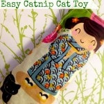 Easy DIY Catnip Cat Toy Tutorial - Make this frugal craft project using herbs and fabric scraps to create a catnip toy for your cats.