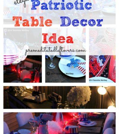 Elegant Patriotic Table Decor Ideas