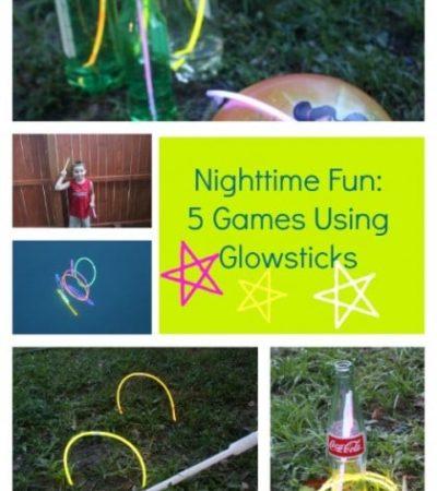 5 Night Games Using Glow Sticks