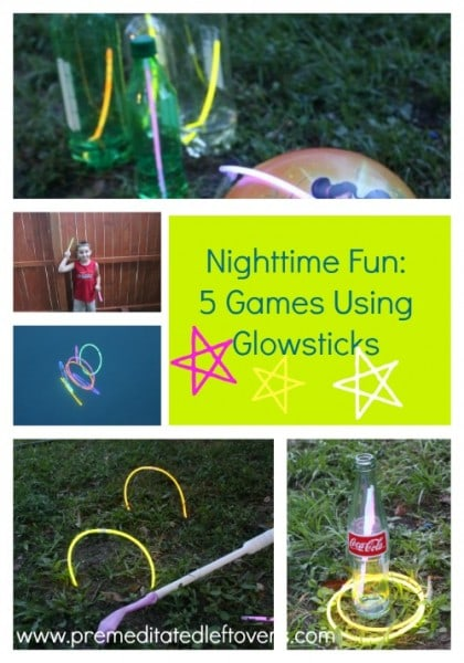 5 Night Games Using Glow Sticks