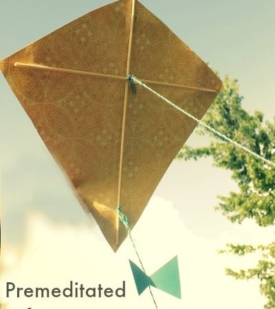 How To Make a Kite for Kids - A fun and easy mini-kite that you can make with your children this summer. Includes a step by step tutorial with pictures.