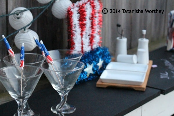 patriotic bar area