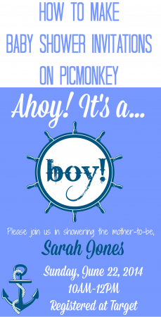 How to Make Baby Shower Invitations With PicMonkey