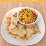 Pineapple Mango Salsa Recipe + How to make homemade tortilla chips