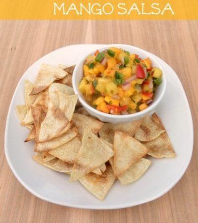 Pineapple Mango Salsa Recipe + How to make homemade tortilla chips