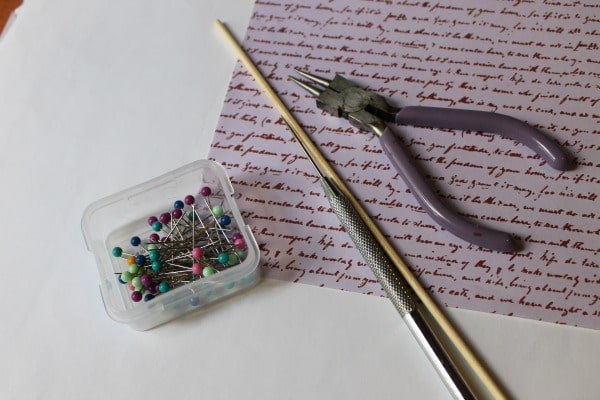 supplies needed to make a pinwheel