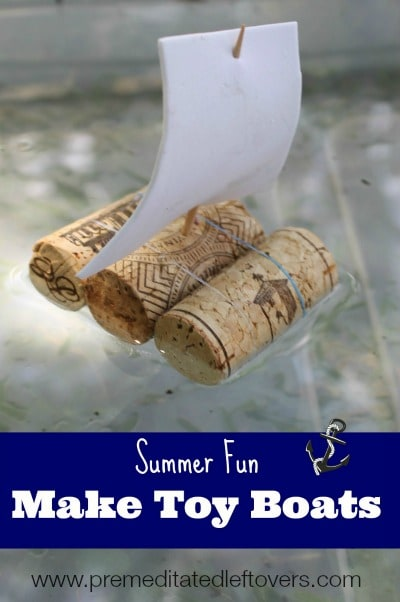 3 ways to make toy boats: with cork, foil, and straws.