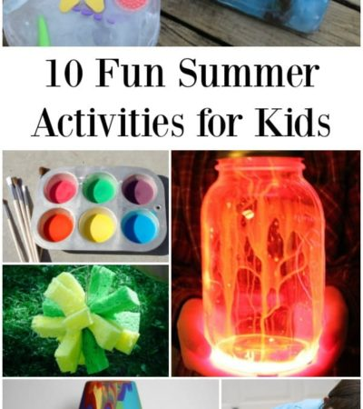 10 Fun Summer Activities to Do at Home