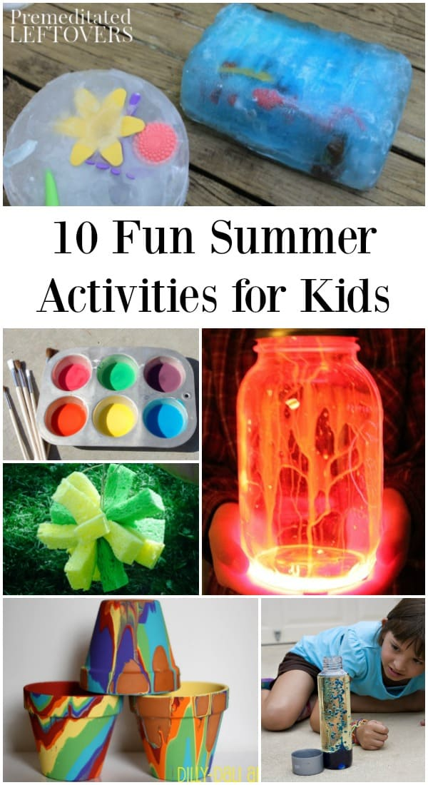Summer activities to do at home with kids