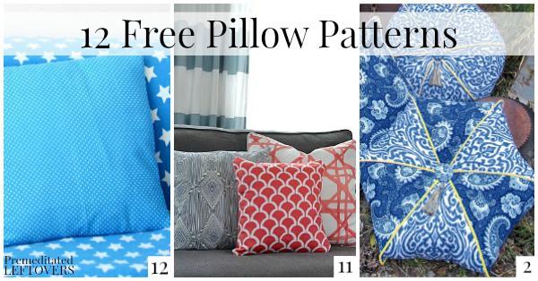 10 Free Pillow Patterns