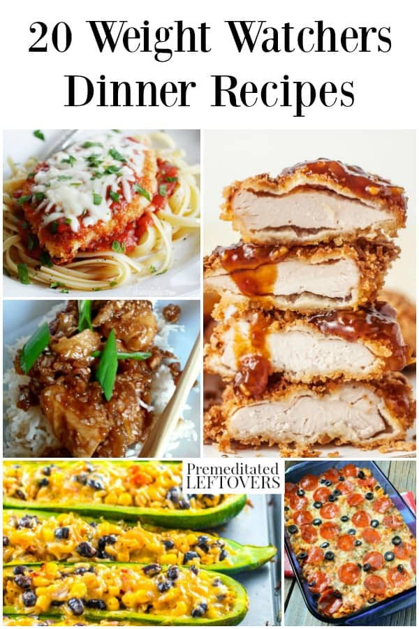 Weight watchers dinner recipes