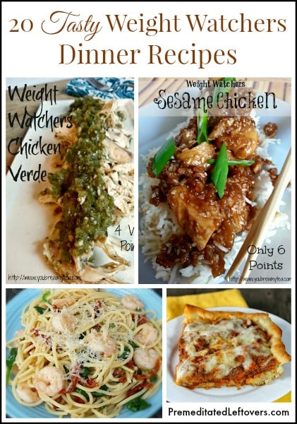 Weight Watcher Dinner Recipes with Points