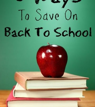 5 Ways to Save Money on Back to School Shopping