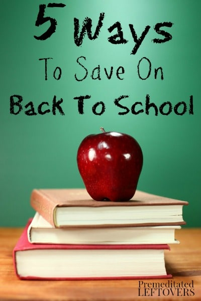 5 Ways to Save on Back to School Shopping - Tips to help you save on back to school shopping, including ways to save on clothes, books, and school supplies.