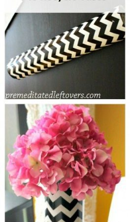 How to Use Wrapping Paper to Decorate Vases - Create a new look for your old vases by using wrapping paper to decorate them. A quick and easy DIY tutorial.