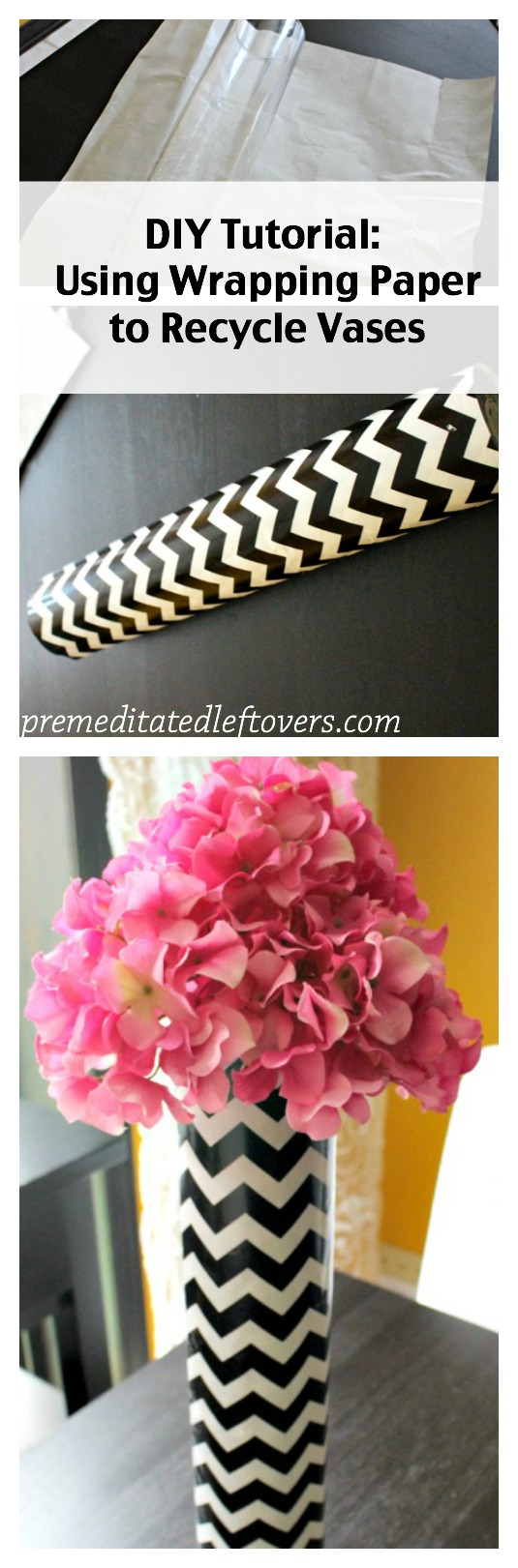 How to use wrapping paper to decorate vases mightylinksfo
