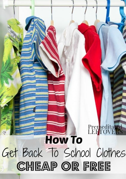 How to Get Back to School Clothes Cheap or Free