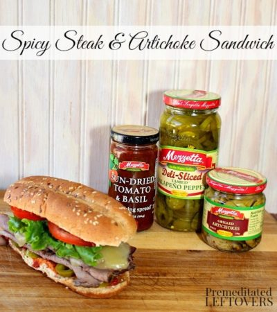 Spicy Steak and Artichoke Sandwich