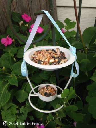 Hang your Dollar Store DIY: $1 Bird Feeder and enjoy watching the birds