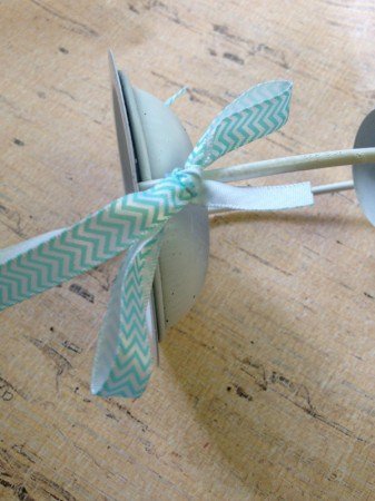 Add ribbon to the Dollar Store DIY: $1 Bird Feeder