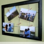 DIY Clothespin Photo Frame - A frugal and easy clothespin craft