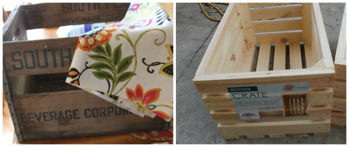 Options for using a crate to make an ottoman.