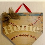 DIY Home Plate Wall Decor