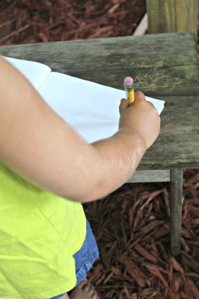Ideas for using a nature journal with your kids