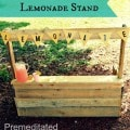 Upcycled Pallet Lemonade Stand - How to make a wooden pallet lemonade stand. this tutorial includes directions with pictures of the process.