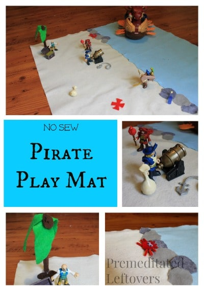 no sew pirate play mat - Easy DIY gift idea