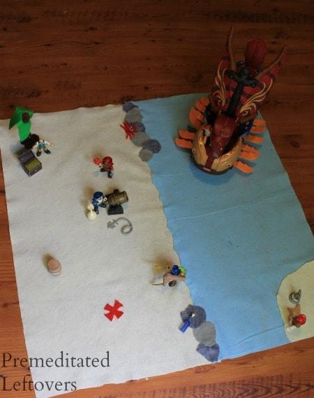 easy diy no sew pirate play mat