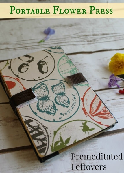 How to Make a Portable Flower Press - Create a portable flower press for your nature walks with a few items gathered from around the home.